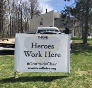 Heroes Work here sign