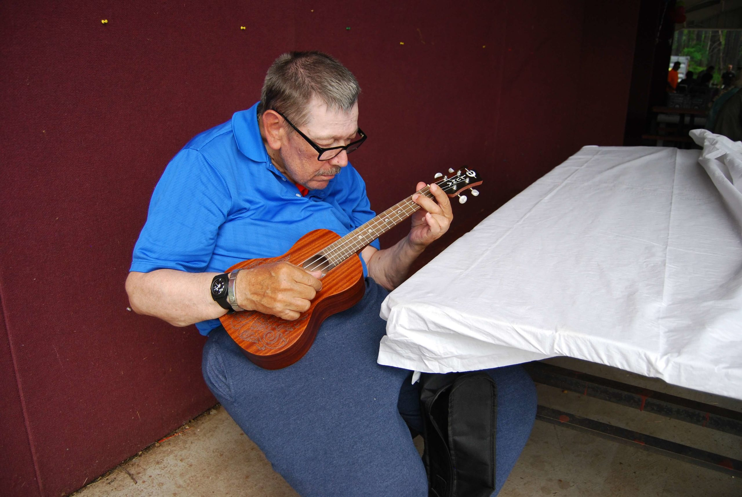Participant playing Guitar