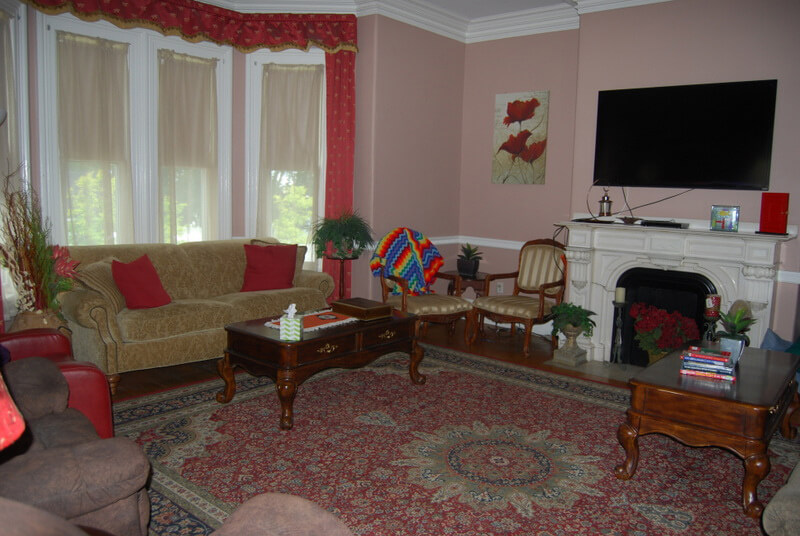Living room of Pleasant Street residence