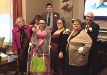 Thrive participants dressed up for Night to Remember Prom