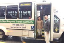 Thrive participants learning MWRTA bus routes