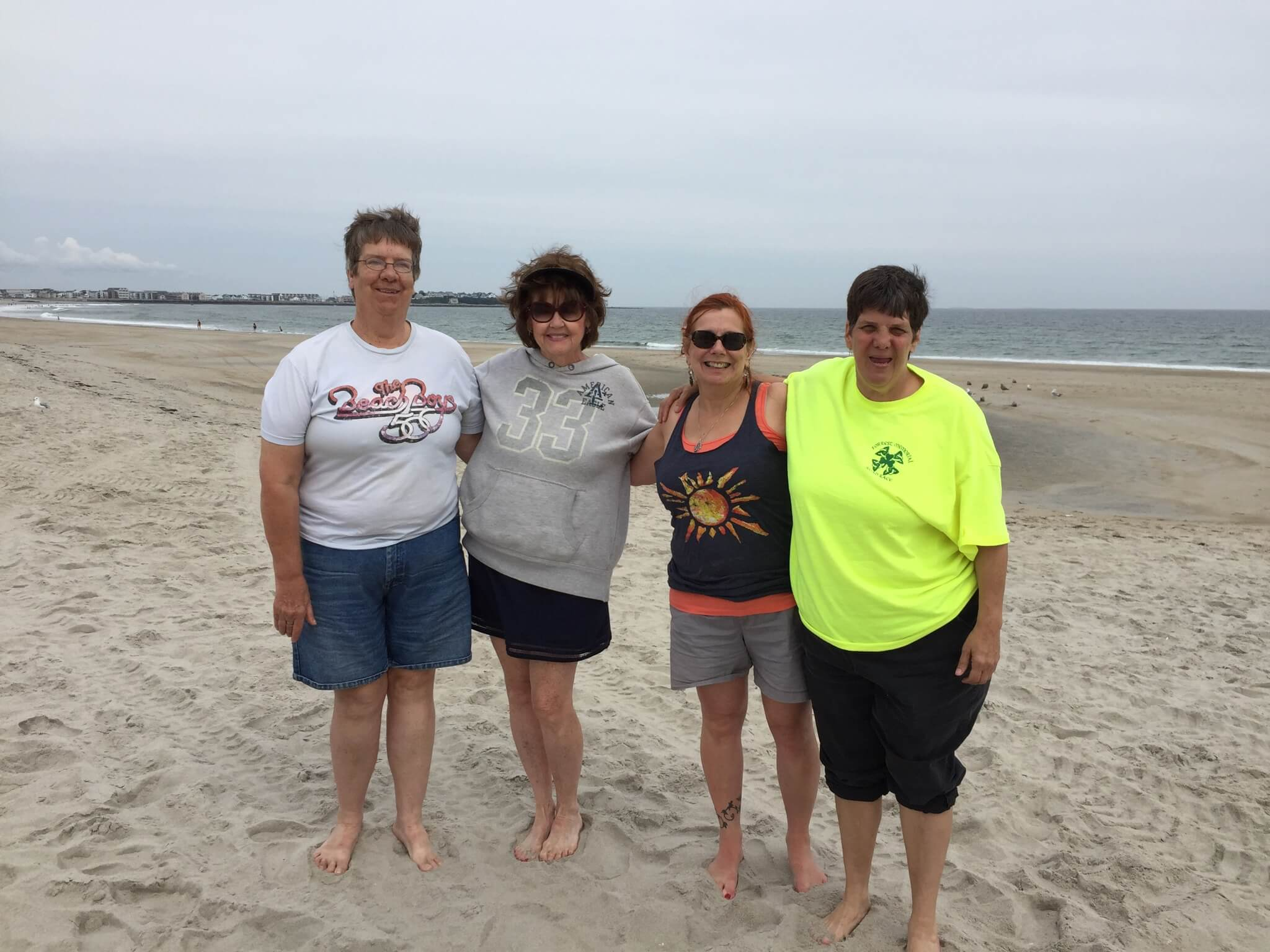 Thrive staff and participants at Hampton beach