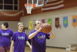 thrive basketball players shooting