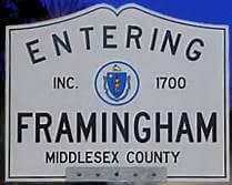 Town of Framingham sign