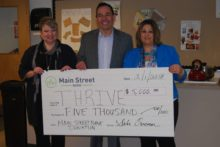 Main Street Bank Donation