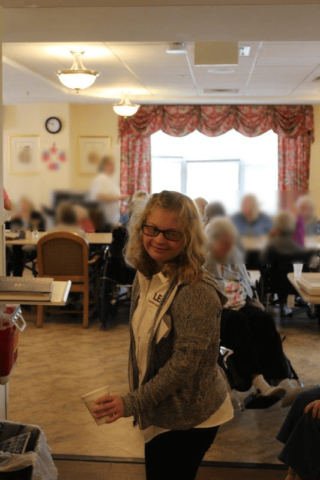 LEAD participant helping out at a nursing home
