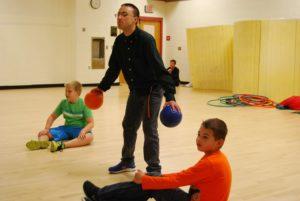 dodgeball at Knucklebones athletic class