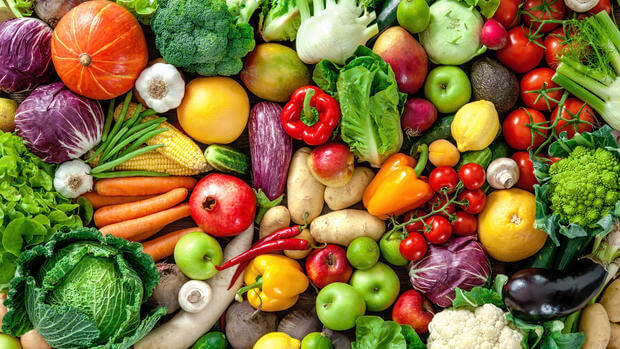 nutritious and colorful vegetables
