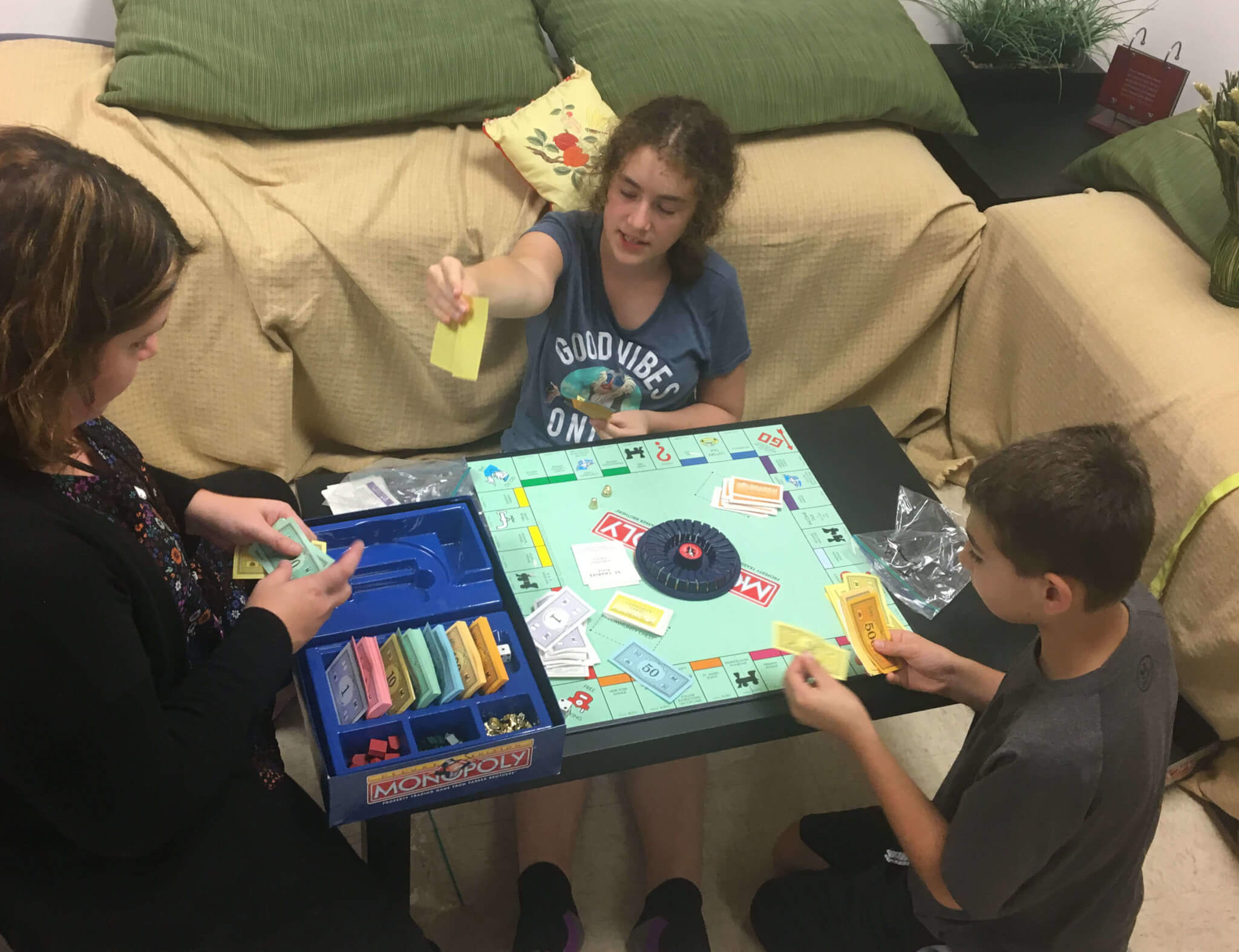 Friends playing games
