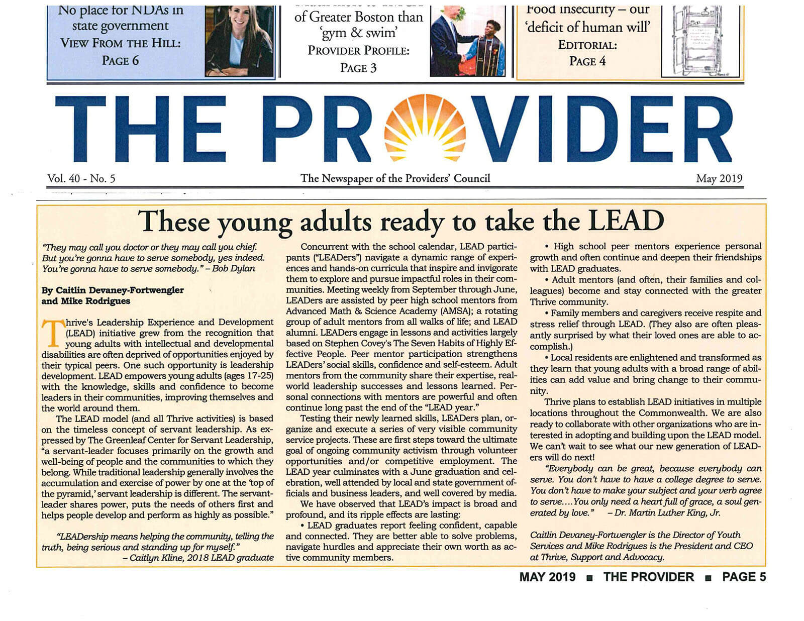The Provider story about LEAD