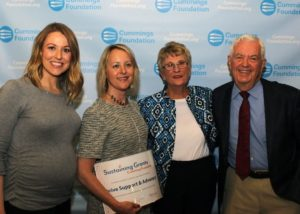 Accepting The Cummings Foundation grant.