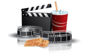 movie reel and lunch