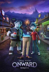 Pixar movie Onward graphic