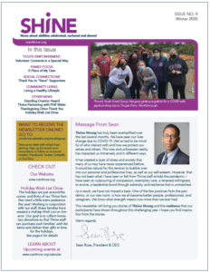 Shine newsletter front page